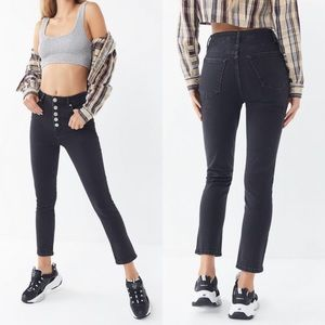 BDG Girlfriend High Rise Washed Black Jeans